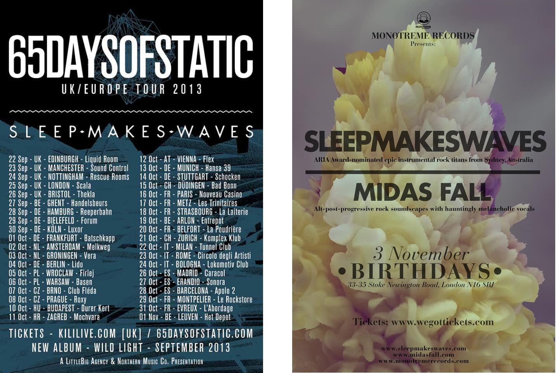 SMW tour posters